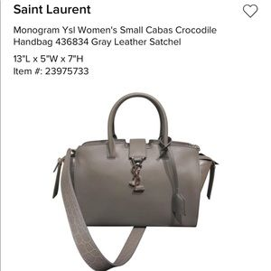 Ysl brand new gray bag